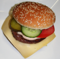 Cheeseburger-menu